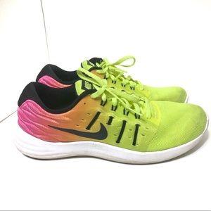 Nike Lunarstelos neon sneakers size 8.5